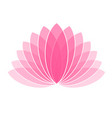 pink lotus flower icon logo on white background vector image