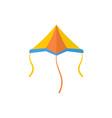plane kite icon flat style vector image