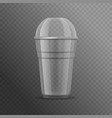 realistic detailed 3d big plastic cup template vector image vector image
