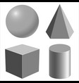 realistic geometric shapes vector image vector image