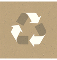 recycled sign on reuse paper texture vector image vector image
