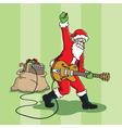 rockin santa vector image vector image