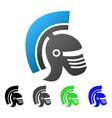 rome helmet flat gradient icon vector image vector image