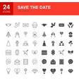 save date line web glyph icons vector image