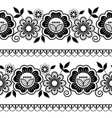 seamless long lace pattern ornamental design vector image vector image