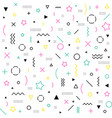 seamless memphis pattern geometric shapes in vector image