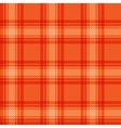 Seamless orange fabric tartan vector image vector image