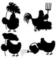 Set chicken silhouette