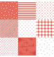 set red cute seamless patterns vector image vector image