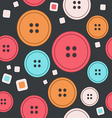 Sew seamless pattern vector image