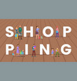 shopping word concept banner vector image