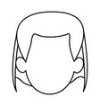 silhouette of faceless head woman hairstyle vector image vector image