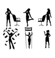 silhouettes businesswomen in action vector image vector image