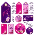 spring sale tags with beautiful sakura flowers vector image vector image