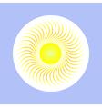 sun in circle vector image