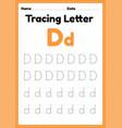 tracing letter d alphabet worksheet