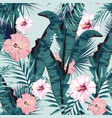 tropic summer painting seamless pattern vector image vector image