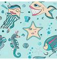 underwater seamless sea world vector image