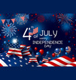 usa 4th july happy independence day design vector image vector image