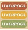 Vintage Liverpool stamp set vector image vector image