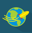 world trip icon set of great flat icons with vector image vector image
