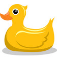 yellow rubber ducky vector image