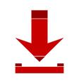 Arrow download symbol icon vector image