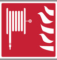 fire safety icon on white background fire vector image