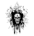skull with pattern retro vector image