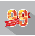 99th Years Anniversary Celebration Design vector image vector image