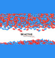 abstract background filled with falling from above vector image vector image