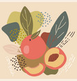 abstract pastel colors fruit element memphis style vector image vector image