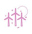 air turbine icon design vector image vector image