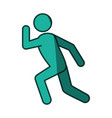 athlete running pictogram vector image