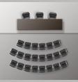 audience auditorium empty college lecture vector image