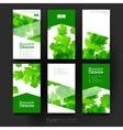 autumn leaf ornament brochure template vector image