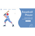 banner template baseball player batter vector image