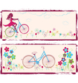 Bike and girl vector image vector image
