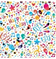 Birthday pattern vector image vector image