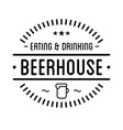 black logo beer house label template vector image vector image