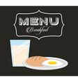 breakfast menu design vector image
