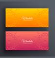 bright decorative mandala banners vector image vector image