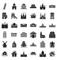 building icons set simple style vector image vector image