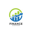 business finance logo template icon design vector image vector image