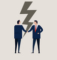 businessmen broken contract relationship vector image vector image
