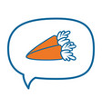 carrot thinking bubble speech vector image vector image