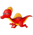 cartoon red spinosaurus vector image vector image