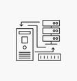 combination data database electronic information vector image