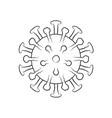 coronavirus covid19-19 virus symbol vector image vector image