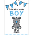 Cute bear baby card vector image vector image